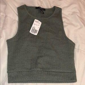 NWT knit crop top